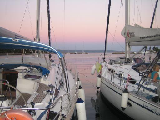 Hafenliegeplatz in Kroatien