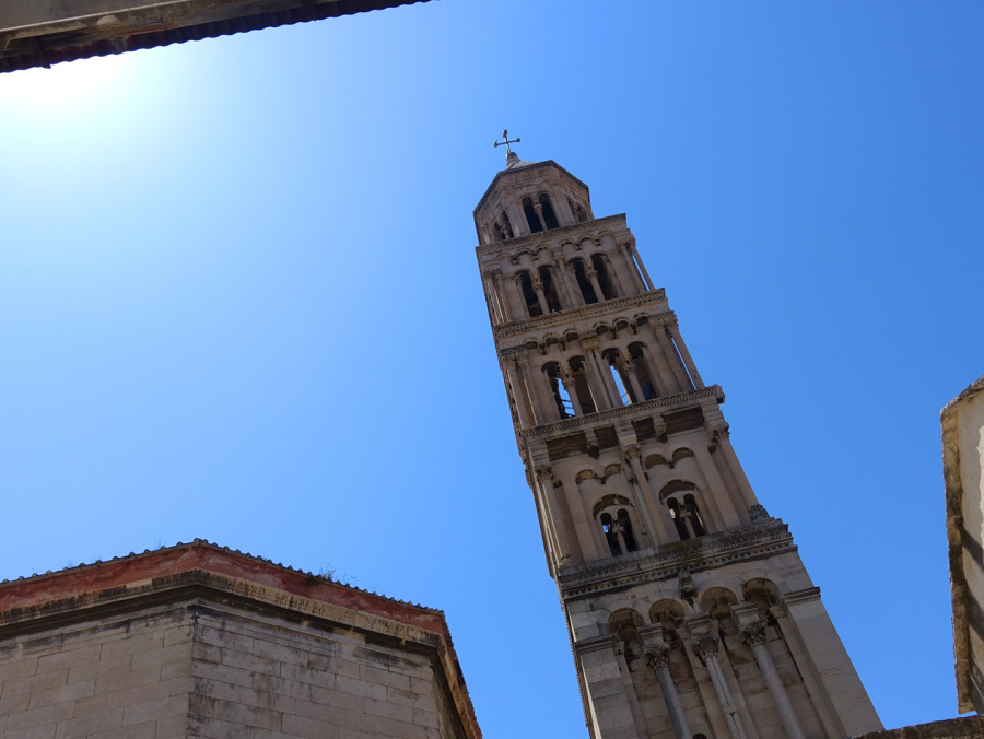 Ansicht der Altstadt von Split